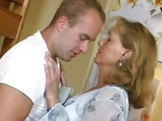 nice-looking mamma fucks with boy