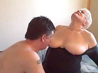 sexy blond curvy amateur granny banging