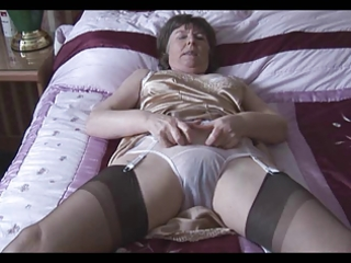 granny in her underware and nylons