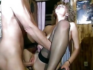 shaggy haired german milf swallows