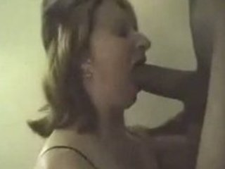 wench wife sucking big dark penis swallows his cum