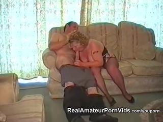 a plump granny has sex with her spouse